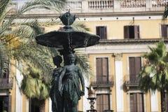 Βαρκελώνη (Ισπανία): Βασιλικό τετράγωνο Στοκ Φωτογραφίες