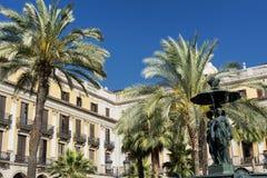 Βαρκελώνη Ισπανία: Βασιλικό τετράγωνο Στοκ εικόνες με δικαίωμα ελεύθερης χρήσης