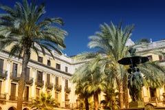 Βαρκελώνη Ισπανία: Βασιλικό τετράγωνο Στοκ φωτογραφία με δικαίωμα ελεύθερης χρήσης