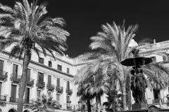 Βαρκελώνη Ισπανία: Βασιλικό τετράγωνο Στοκ Εικόνες