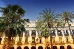 Βαρκελώνη Ισπανία: Βασιλικό τετράγωνο Στοκ Φωτογραφίες
