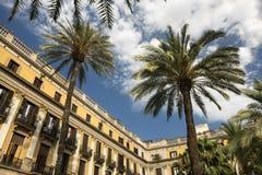Βαρκελώνη Ισπανία: Βασιλικό τετράγωνο Στοκ Εικόνα