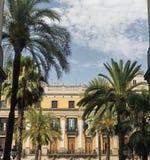 Βαρκελώνη Ισπανία: Βασιλικό τετράγωνο Στοκ Φωτογραφία