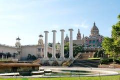Βαρκελώνη, Ισπανία - εθνικό Μουσείο Τέχνης Plaza de Espana Στοκ Φωτογραφίες