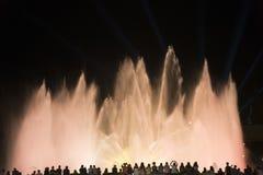 Βαρκελώνη Ισπανία: η μαγική πηγή Στοκ εικόνα με δικαίωμα ελεύθερης χρήσης
