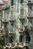 Βαρκελώνη Ισπανία: οικοδόμηση Passeig de Gracia Στοκ εικόνα με δικαίωμα ελεύθερης χρήσης
