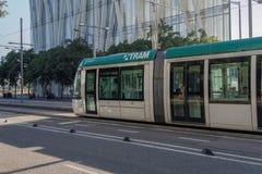 Βαρκελώνη, Ισπανία - 25 Σεπτεμβρίου 2016: Μεταφορά τραμ στη Βαρκελώνη Στοκ Εικόνα