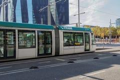 Βαρκελώνη, Ισπανία - 25 Σεπτεμβρίου 2016: Μεταφορά τραμ στη Βαρκελώνη Στοκ Εικόνες