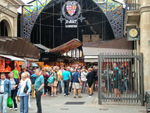 Βαρκελώνη, Ισπανία, στις 30 Σεπτεμβρίου 2015 - αγορά Boqueria Rambla Στοκ Εικόνες