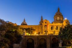 Βαρκελώνη Ισπανία στο σούρουπο Στοκ φωτογραφίες με δικαίωμα ελεύθερης χρήσης