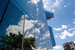 Βαρκελώνη, Ισπανία - το κτήριο γυαλιού στη διαγώνιος εμπορικών κέντρων χαλά Στοκ φωτογραφία με δικαίωμα ελεύθερης χρήσης