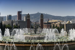 Βαρκελώνη Ισπανία: Montjuic Στοκ φωτογραφίες με δικαίωμα ελεύθερης χρήσης