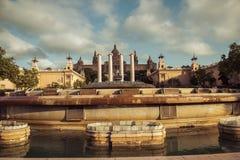 Βαρκελώνη. Καταλωνία, Ισπανία - υπόβαθρο ταξιδιού Στοκ εικόνες με δικαίωμα ελεύθερης χρήσης