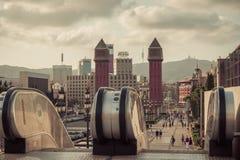 Βαρκελώνη. Καταλωνία, Ισπανία - υπόβαθρο ταξιδιού Στοκ Εικόνα