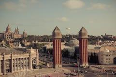 Βαρκελώνη. Καταλωνία, Ισπανία - υπόβαθρο ταξιδιού Στοκ φωτογραφία με δικαίωμα ελεύθερης χρήσης