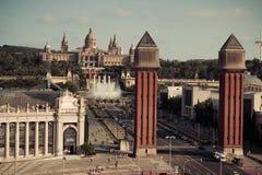 Βαρκελώνη. Καταλωνία, Ισπανία - υπόβαθρο ταξιδιού Στοκ Εικόνες