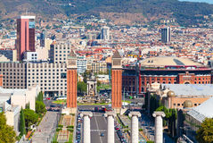 Βαρκελώνη, τετραγωνική της Ισπανίας, Plaza de Espana Στοκ φωτογραφία με δικαίωμα ελεύθερης χρήσης