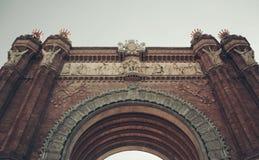 Βαρκελώνη, Arc de Triomf Στοκ Εικόνα