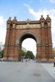 Βαρκελώνη Arco de Triunfo Στοκ Εικόνες