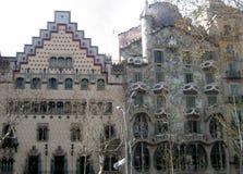 Βαρκελώνη - Casa Batllà ² ε Casa Amatller Στοκ Φωτογραφία