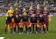 Βαρκελώνη fc lineup στοκ εικόνες