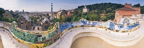 Βαρκελώνη guell parc Στοκ φωτογραφία με δικαίωμα ελεύθερης χρήσης