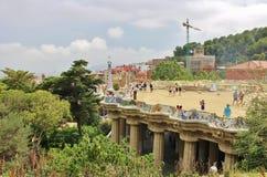 Βαρκελώνη guell parc Στοκ Εικόνες