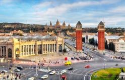 Βαρκελώνη - Placa de espanya, Ισπανία Στοκ εικόνα με δικαίωμα ελεύθερης χρήσης