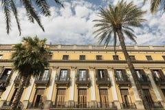 Βαρκελώνη & x28 Spain& x29: Βασιλικό τετράγωνο Στοκ εικόνα με δικαίωμα ελεύθερης χρήσης