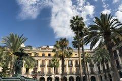 Βαρκελώνη & x28 Spain& x29: Βασιλικό τετράγωνο Στοκ Φωτογραφίες