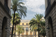 Βαρκελώνη & x28 Spain& x29: Βασιλικό τετράγωνο Στοκ Φωτογραφία