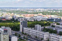 Βαρσοβία από το υψηλό σημείο Στοκ Φωτογραφίες
