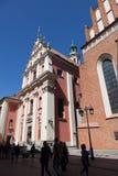 Βαρσοβία Καθεδρικός ναός Αγίου Yang ` s και εκκλησία Jesuits στοκ φωτογραφία με δικαίωμα ελεύθερης χρήσης