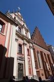 Βαρσοβία Καθεδρικός ναός Αγίου Yang ` s και εκκλησία Jesuits στοκ εικόνες
