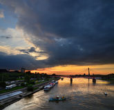 Βαρσοβία και Vistula Στοκ φωτογραφίες με δικαίωμα ελεύθερης χρήσης