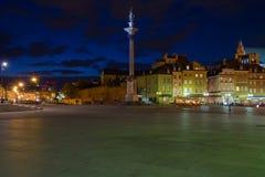 Βαρσοβία, παλαιά πόλη τη νύχτα Στοκ φωτογραφία με δικαίωμα ελεύθερης χρήσης