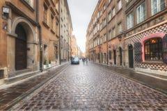 Βαρσοβία, Πολωνία, στις 21 Απριλίου 2019 - οδοί στη Βαρσοβία, περίπατος μέσω της παλαιάς πόλης στοκ εικόνες με δικαίωμα ελεύθερης χρήσης