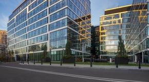 Βαρσοβία, Πολωνία το Νοέμβριο του 2018: σύνθετος των σύγχρονων κτιρίων γραφείων στοκ φωτογραφίες
