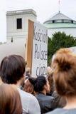 Βαρσοβία, Πολωνία, 2016 10 01 - διαμαρτυρηθείτε ενάντια στο νόμο φ αντι-άμβλωσης Στοκ εικόνα με δικαίωμα ελεύθερης χρήσης