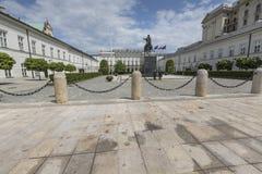 ΒΑΡΣΟΒΙΑ, ΠΟΛΩΝΙΑΣ - 08 ΙΟΥΛΙΟΥ: Προεδρικό παλάτι στη Βαρσοβία, Πολωνία Στοκ Εικόνα