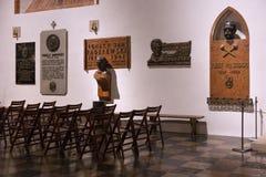 ΒΑΡΣΟΒΙΑ, ΠΟΛΩΝΙΑ - 1 ΙΑΝΟΥΑΡΊΟΥ 2016: Εσωτερικό του καθολικού ST John ` s Archcathedral Στοκ Εικόνα