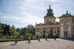 ΒΑΡΣΟΒΙΑ, POLAND/EUROPE - 17 ΣΕΠΤΕΜΒΡΊΟΥ: Παλάτι Wilanow στη Βαρσοβία Στοκ Εικόνες