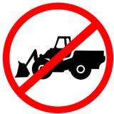Βαρύς βιομηχανικός κύκλος προσοχής απαγόρευσης μηχανών μην κόκκινο οδικό σημάδι που απομονώνεται στο άσπρο υπόβαθρο ελεύθερη απεικόνιση δικαιώματος