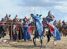 βαρύς ιππότης αλόγων τεθωρ Στοκ εικόνες με δικαίωμα ελεύθερης χρήσης