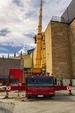 Βαρύς κινητός γερανός Στοκ φωτογραφία με δικαίωμα ελεύθερης χρήσης