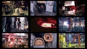 Βαρύ εργοστάσιο βιομηχανίας Αφηρημένο βιομηχανικό montage υποβάθρου απόθεμα βίντεο