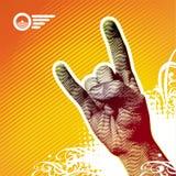 βαρύ μέταλλο χεριών Στοκ φωτογραφία με δικαίωμα ελεύθερης χρήσης