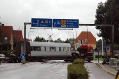 Βαρύ φορτηγό έλξης που κολλιέται Στοκ φωτογραφίες με δικαίωμα ελεύθερης χρήσης