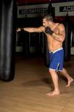βαρύ workout τσαντών Στοκ Φωτογραφία