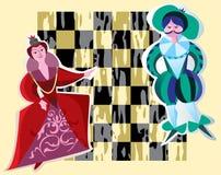 βασίλισσα βασιλιάδων σκακιού απεικόνιση αποθεμάτων